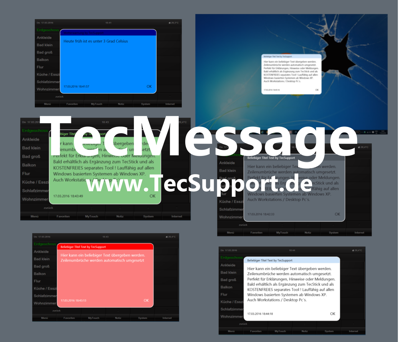 TecMessage Popup Tool für Windows PC in verbindung mit Gira Homeserver