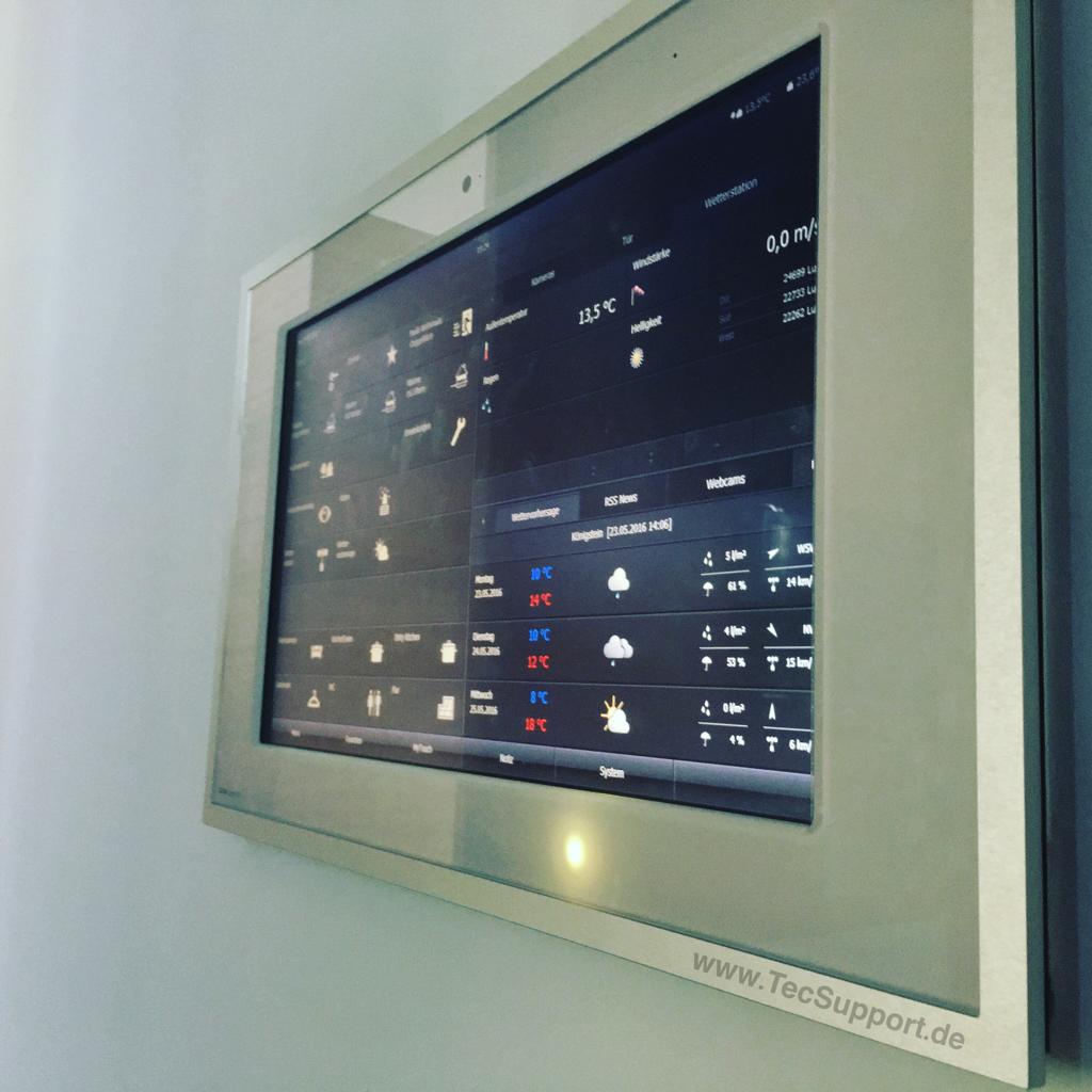 SMART HOME TOOLS - TecStick im Gira Control 19 Touchpanel Windows. TecSupport Benjamin Schneider, Sulzbach