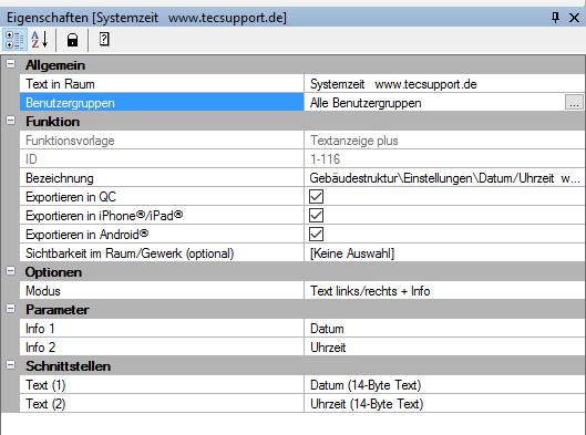 Tutorial Datum/Uhrzeit Systemzeit des Homeservers im Gira QuadClint darstellen. www.tecsupport.de