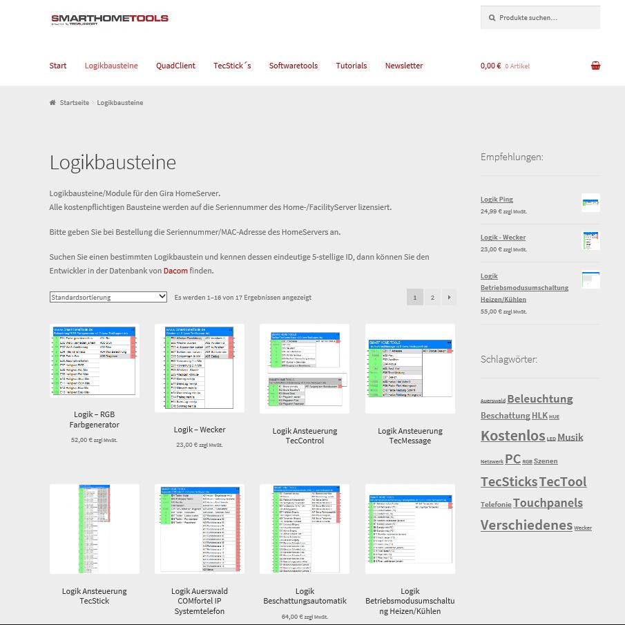 Alle KNX, GiraHomeServer Tools online